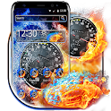 Water Fire Car Speedometer Theme icon