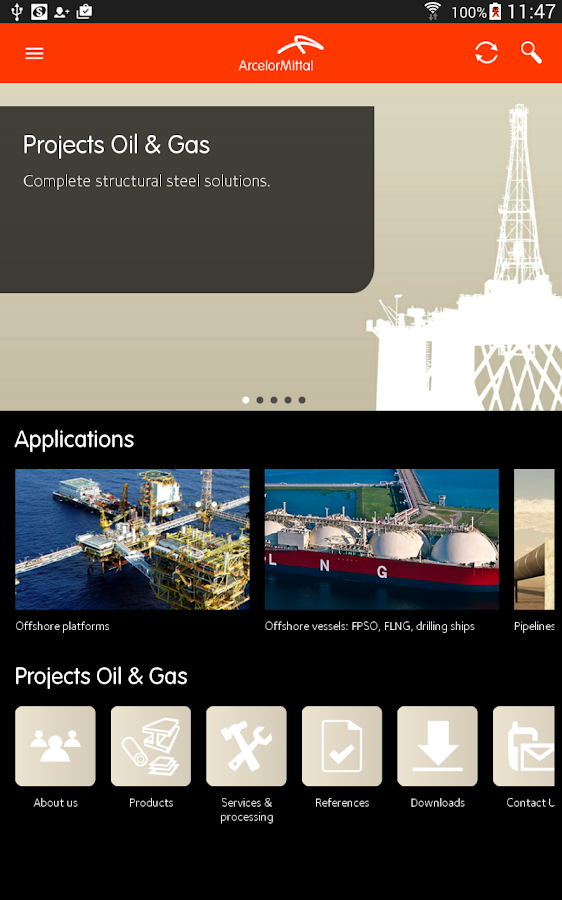 ArcelorMittal Projects- screenshot