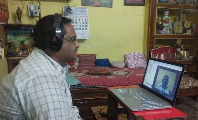 Online Education In India - Teacher giving his all to give quality education in online class!