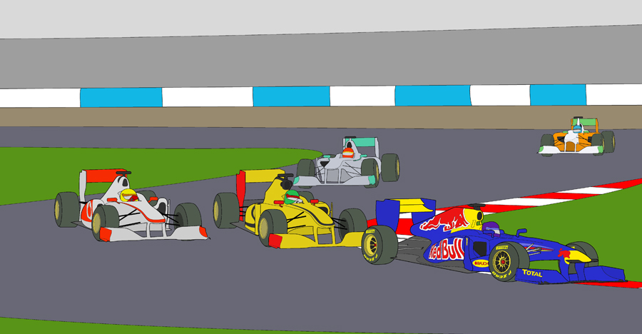 F1 Race Coloring Page