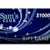 Get a $1,000 Sam's Club Gift Card ( United States )