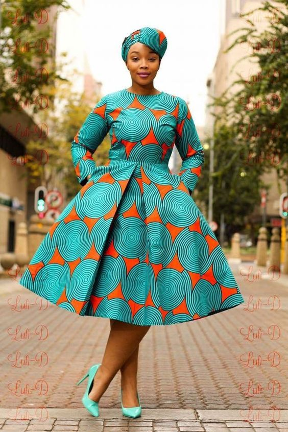 AFRICAN PRINT DRESSES STYLES FOR WOMAN 2