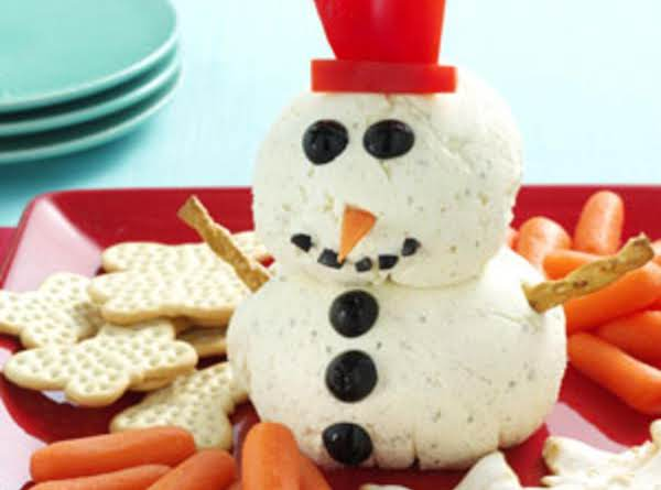 Creamy Holiday Ranch Snowman