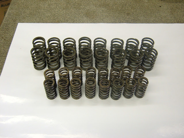 Valve springs, stock 128.00 , mild performance HP-1  139.00 , high-performance hp-2  149.00. Contact us for correct springs for your needs.
