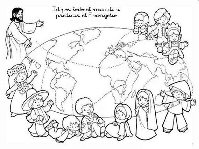 Las Misiones Y Los Niños Dibujos Para Colorear De Niños: Dibujos Católicos : Imagenes Del Evangelio Para Colorear