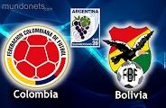 Colombia Bolivia online vivo SUb20 Horarios 15Enero