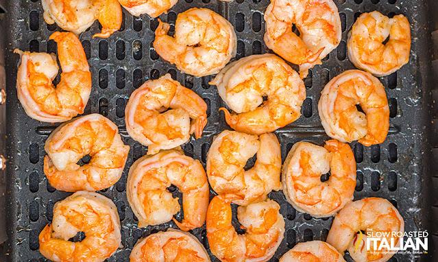 air fryer shrimp cooked
