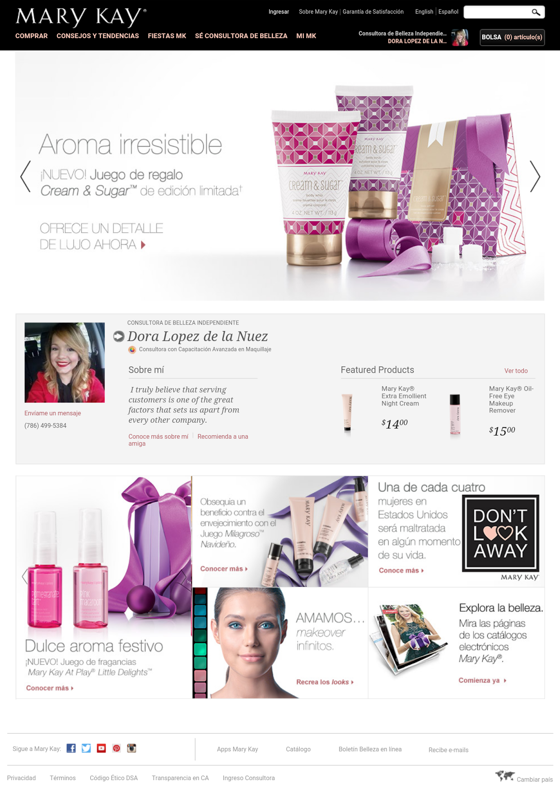 Doras Beauty Bar Website Mary Kay