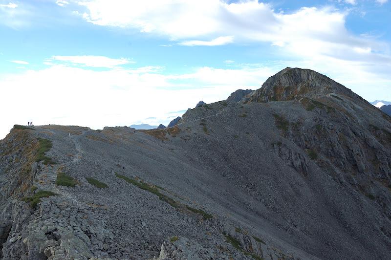 南岳への稜線