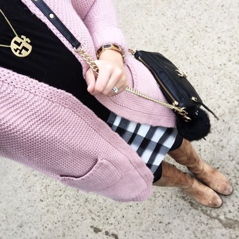 rose quartz, color of the year, long pink cardigan