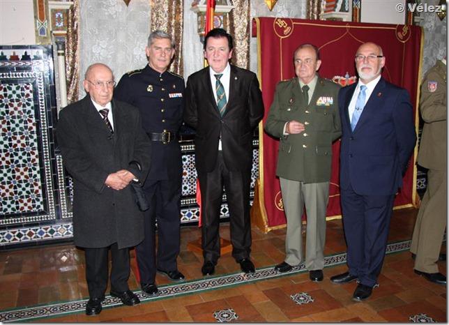 Con el actual coronel Jefe de la Agrupación de Infantería de Marina de Madrid