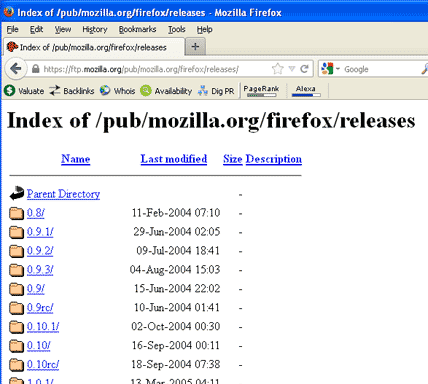 Download old version of Firefox