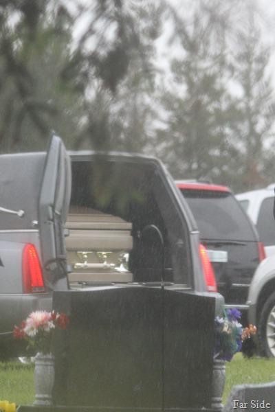 Aunt Graces Casket awaits burial