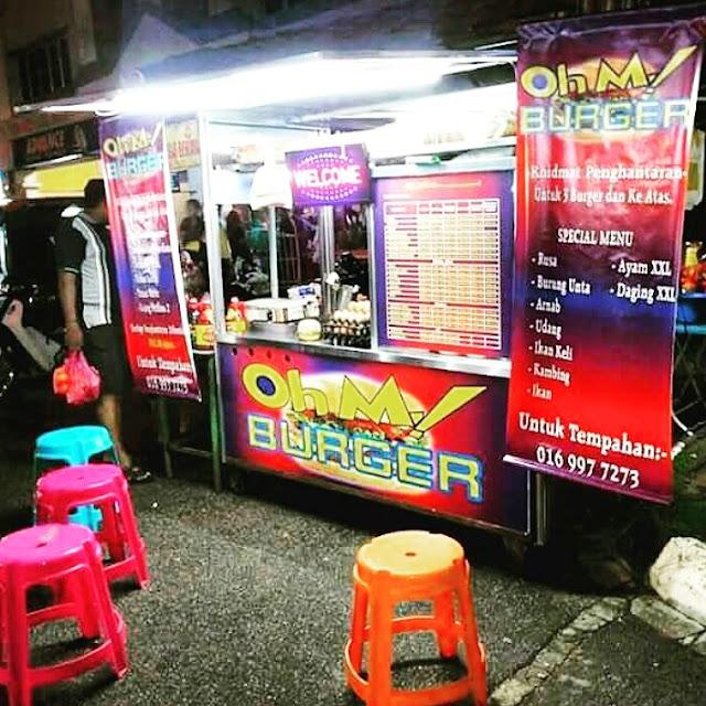 stall burger untuk dijual