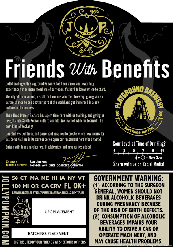 Jolly Pumpkin & Playground Brewery Collaborate On Friends With Benefits
