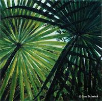 'Palmen', Öl auf Leinwand, 30x30, 2003, verkauft