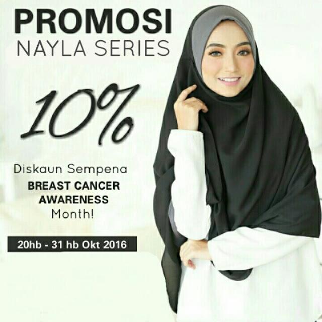 promosi 10% shawl labuh nayla dan mika printed