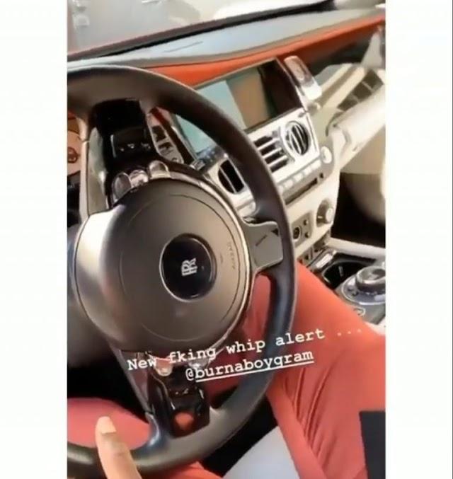 Burna Boy Buys Rolls Royce As Christmas Gift (SEE PHOTOS).