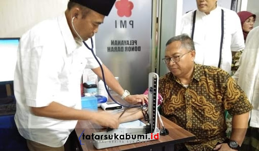 Marwan Hamami Resmikan Ruang Aftap Unit Donor Darah PMI Kabupaten Sukabumi