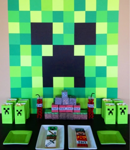 Minecraft Party Dessert Table