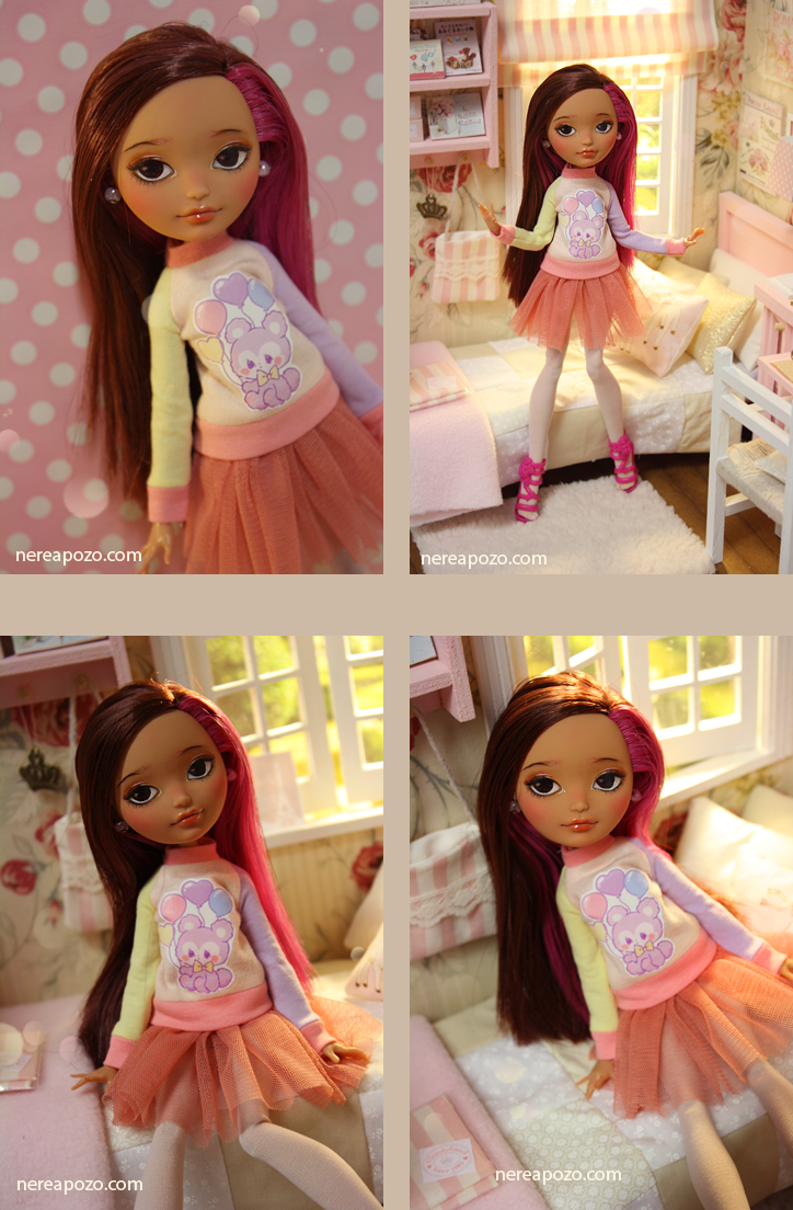 SUKI  OOAK custom repaint Ever After High doll by Nerea