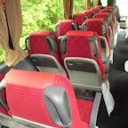 Het interieur van de VDL Futra van Kupers bus 199