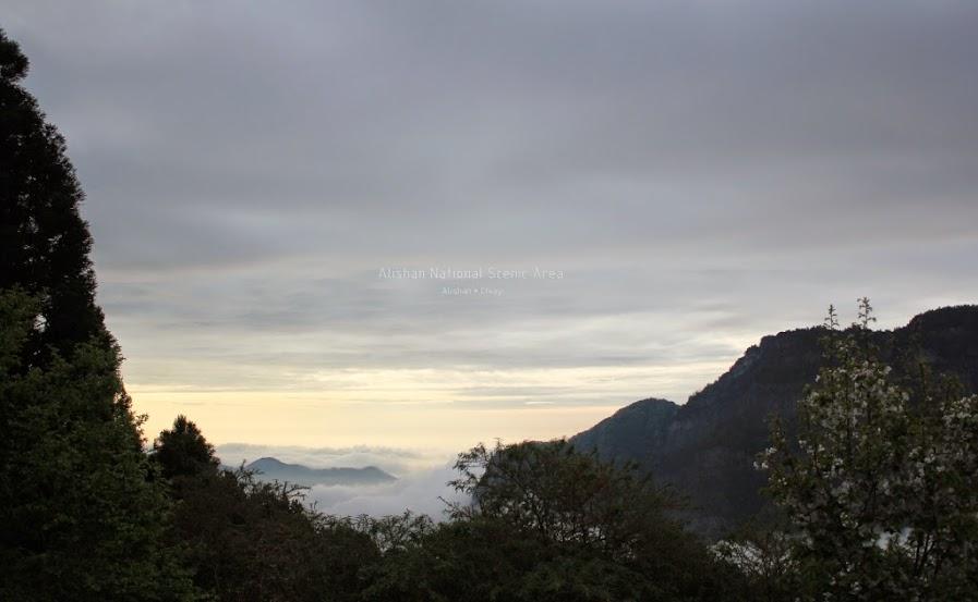 嘉義阿里山夕陽