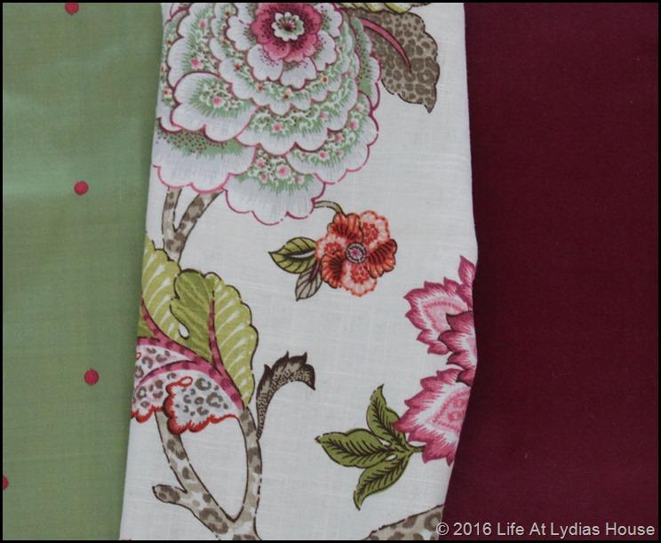 fabric samples close up