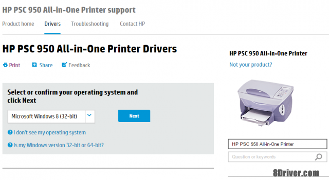 download HP PSC 1317 All-in-One Printer driver 1