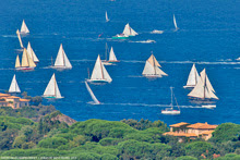 Sailing off St Tropez, Frances in Les Voiles