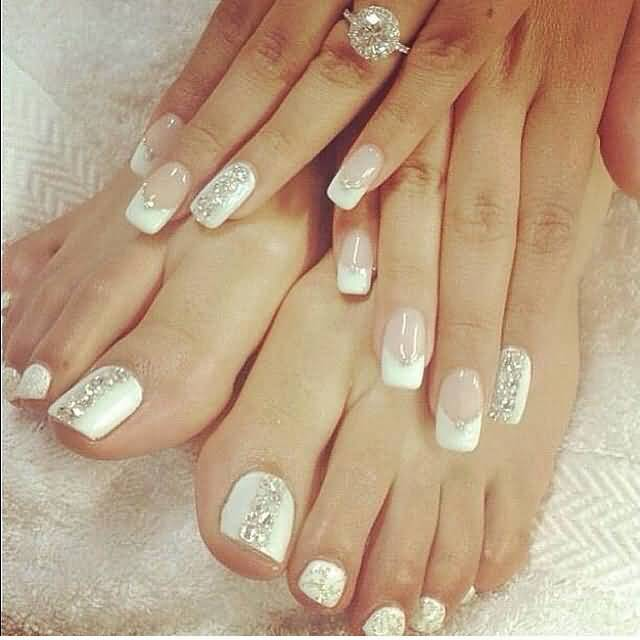 Latest Wedding Toe Nail Art Design Ideas for 2017 - Styles Art