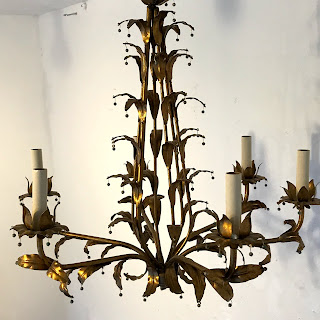 Wrought Metal 6-Arm Chandelier