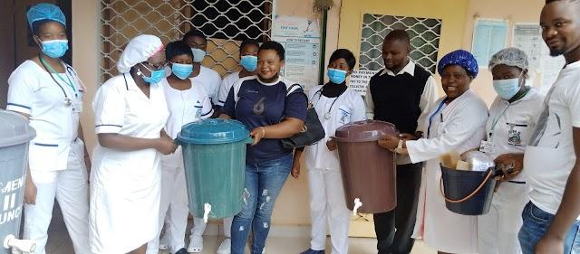COVID-19 : Ntambag City Councillors gifts Health facilities, supports patients