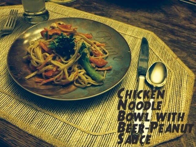 Recipe: Noodle Bowl with Beer Peanut Sauce