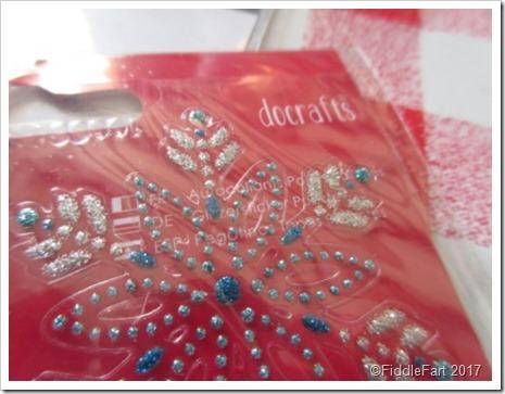 Docrafts metallic snowflake stickers
