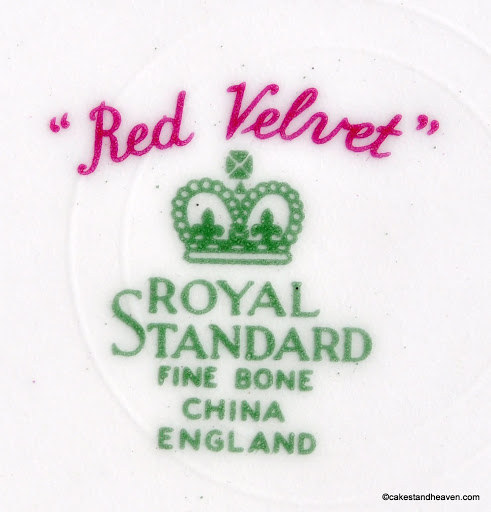 Royal Standard Red Velvet Backstamp c.1949+