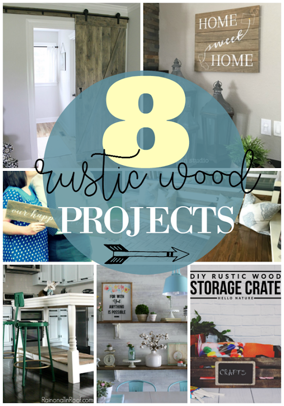8 Rustic Wood Projects at GingerSnapCrafts.com #rustic #homedecor #farmhouse