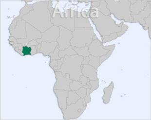 Cote d'Ivoire location map