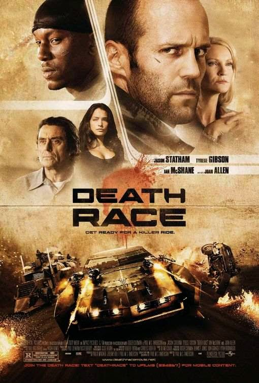 Poster Of Death Race (2008) Full Movie Hindi Dubbed Free Download Watch Online At Alldownloads4u.Com