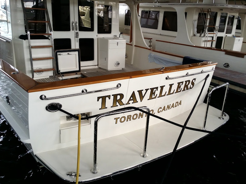 Gold Leaf Boat Name - Travellers