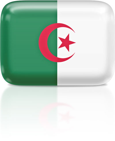 Algerian flag clipart rectangular