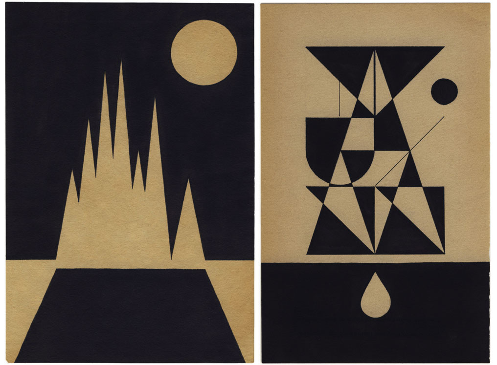 i love these geometric illustrations by louis reith simple shapes in beautiful compositions i would love a set of these for my wall - Simple Shapes Wall Design