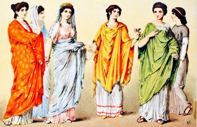 8363bf444 Los ciudadanos más ricos vestían prendas hechas con telas de seda o algodón  traídas de la India o China.