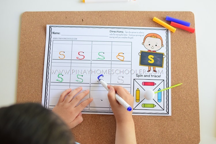 Spin and Trace: Alphabet Writing for Preschoolers