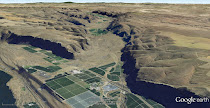 Moses Coulee - conduit for the Ice Age Floods (GoogleEarth views)