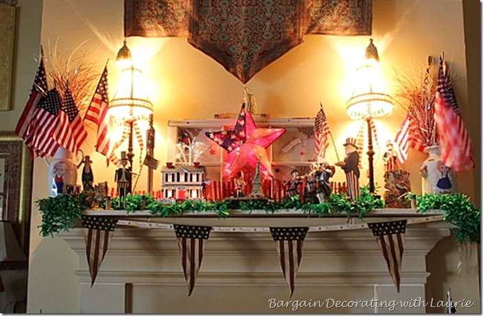 Mantle decorations for July 4th