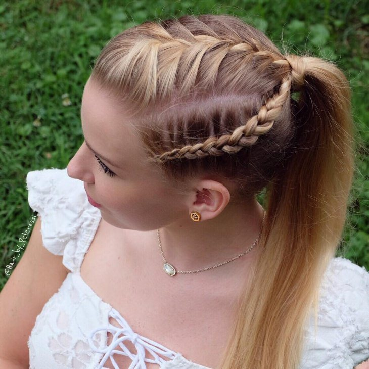 side braid ponytail hairstyle 2017 - Styles 7