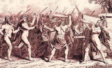 Heimdall Sounds Gjallarhorn At Ragnarok, Asatru Gods And Heroes