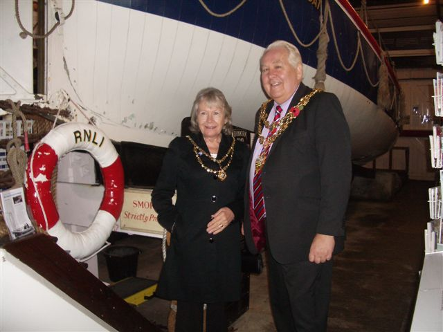 The Mayor and Mayoress of Poole in the Old Lifeboat Museum, Monday 14th November 2011