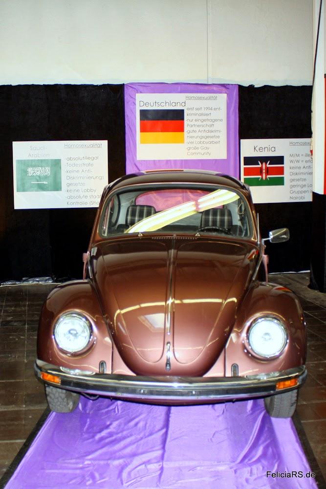 Der obergine farbene Käfer